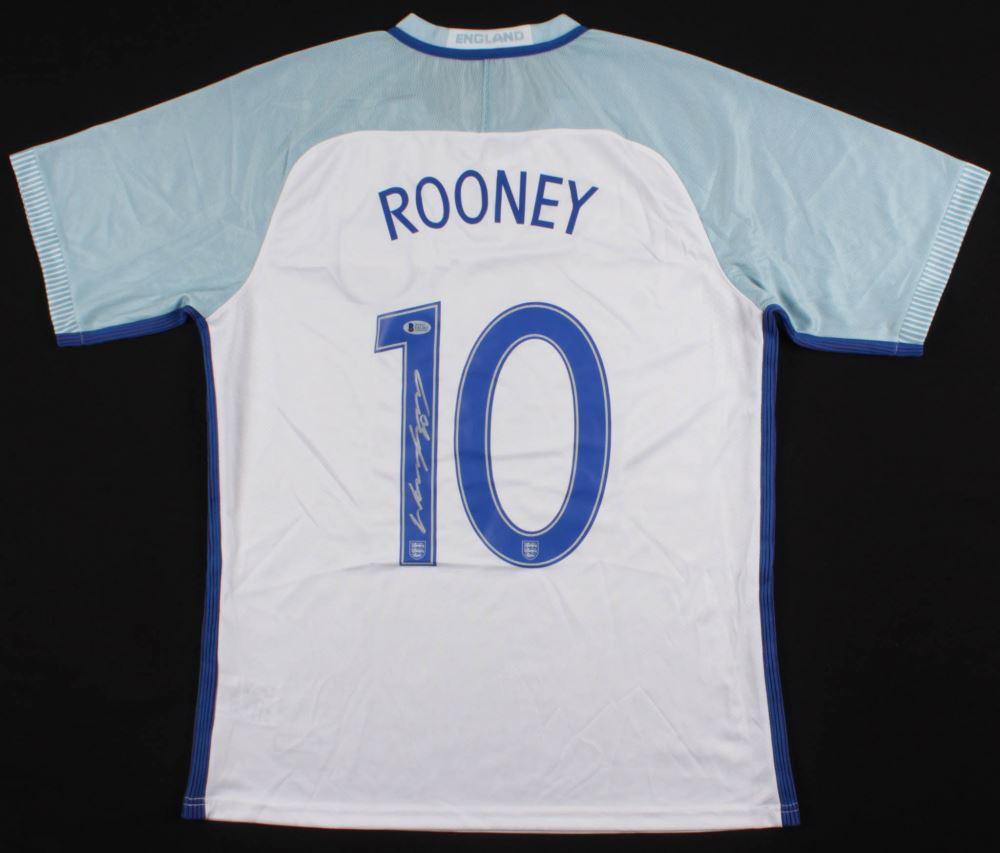 promo code 7a56a 29b07 Wayne Rooney Signed England National Jersey (Beckett COA)