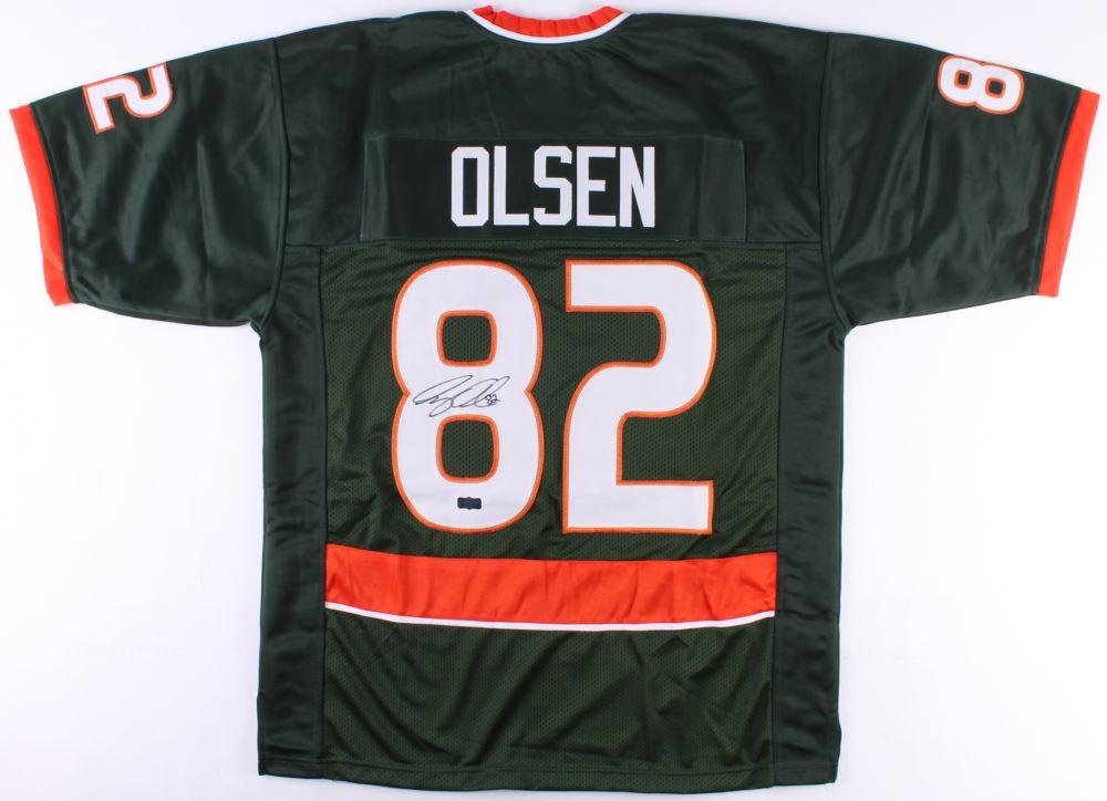 super popular 72c7c c0edf Greg Olsen Signed Miami Hurricanes Jersey (Radtke COA)