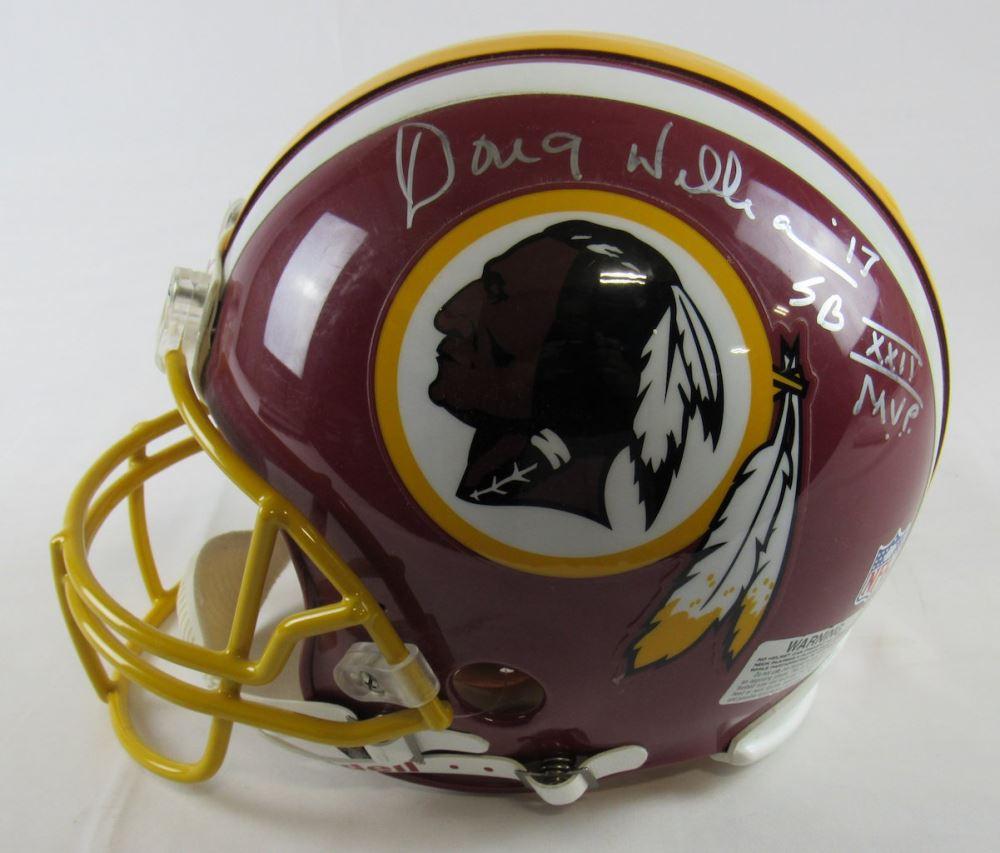 af250534 Image 1 : Doug Williams Signed Redskins Full-Size Authentic On-Field Helmet  Inscribed