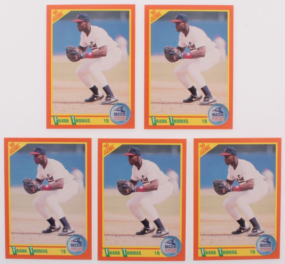 Lot Of 5 1990 Score Rookie Traded 86t Frank Thomas