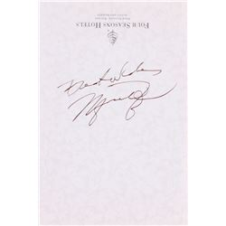f3cd6534c9e Michael Jordan Signed Four Seasons 4x6 Stationery Cut Inscribed Best Wishes  (PSA LOA)