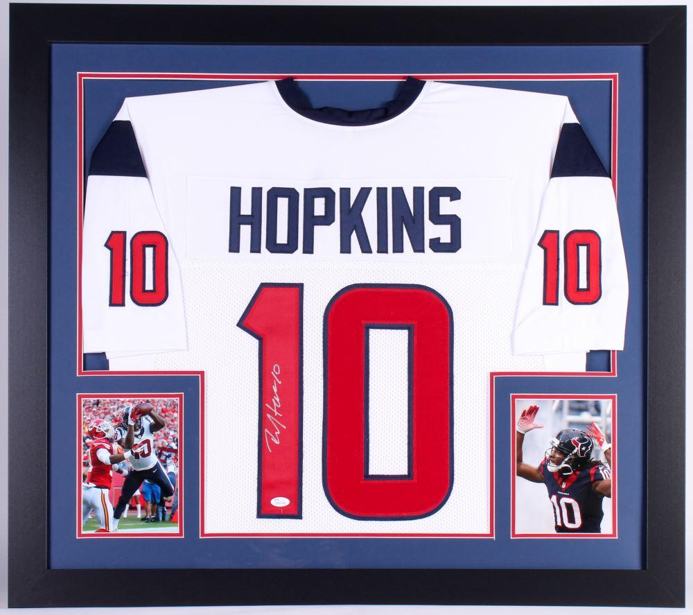 DeAndre Hopkins Signed Texans 31x35 Custom Framed Jersey ...