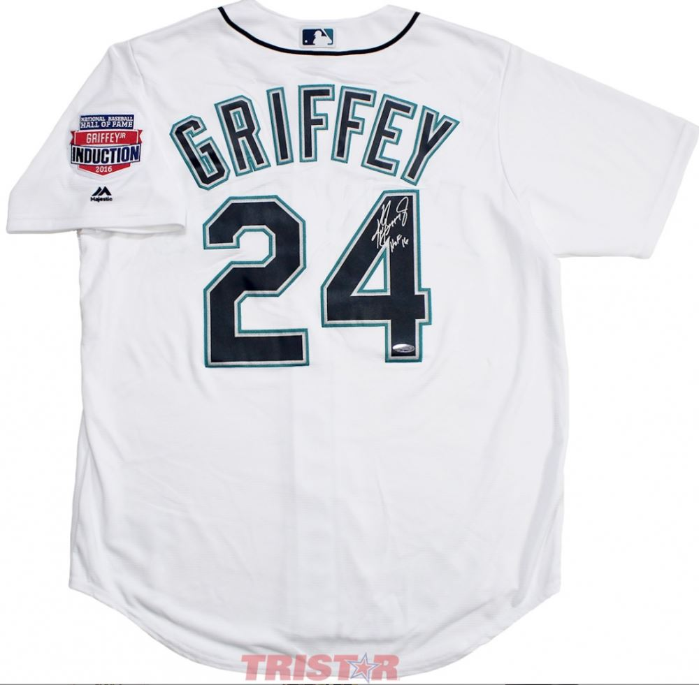 6dfeea4567f Image 1   Ken Griffey Jr. Signed Mariners Majestic Jersey Inscribed