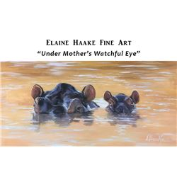 "ELAINE HAAKE FINE ART:  Oil Painting ""Under Mother's Watchful Eye""."