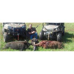 One Night Alabama Hog Hunt for Three Hunters