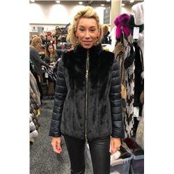 Black Dyed Female Mink Jacket / Vest