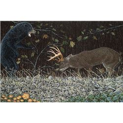 """ANTLER'S CHARGE"" CANVAS GICLEE BY DAN DEVINE $1,900 / EXHIBITOR"