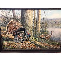 COULEE COUNTY TURKEY  FRAMED GICLEE BY SCOTT ZOELLICK $1,500 / EXHIBITOR