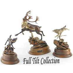 World Renowned Wildlife Sculptor Frank Entsminger's Full Tilt Limited Edition Set