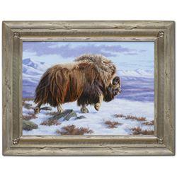 "Alaska: Artist Chip Brock's ""A Step Back in Time"" Original Oil Painting"