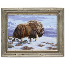 "Alaska: Artist Chip Brock's ""A Step Back in Time"" Original Oil Painting"