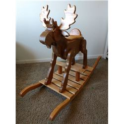 "Alaska: ""Children's Moose Rocker"" Handcrafted by SCI Alaska Life Member John Hilsinger"