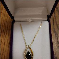 Women's Gold & Onyx Neclace