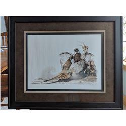 Elegantly Framed Pheasant Family Portrait