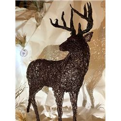 Life Size Barbed Wire Deer Sculpture