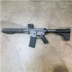 Custom made by Chris Brown this Aero Precision AR15 pisto