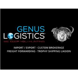 $500 Certificate for Trophy Importation from Genus Logistics