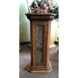 Barnwood and Alder Pedestal from Bennett Woodworks