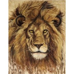 'Lion King' Original oil on linen by Great Falls own Cliff Rossberg