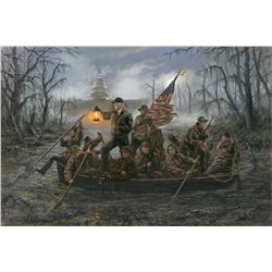 LA 12 - CROSSING THE SWAMP, By Jon McNaughton