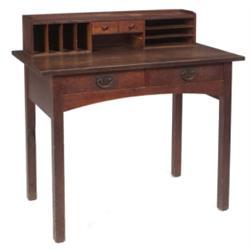 Gustav Stickley desk, two drawers