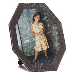 French Arts & Crafts frame, octagonal