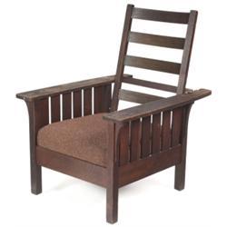 L & JG Stickley Morris chair, #471