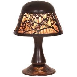 Heintz  lamp, sterling over bronze
