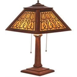 Arts & Crafts lamp, overlaid