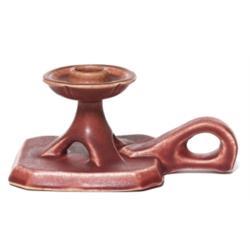 Rookwood chamberstick red matt glaze