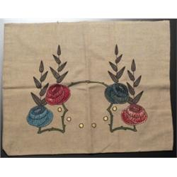 Arts & Crafts pillowcase embroidered