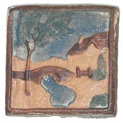 Claycraft tile, attribution, landscape