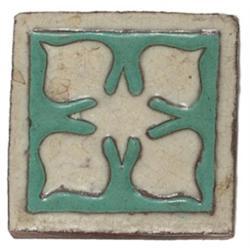 Grueby tile leaf design ivory