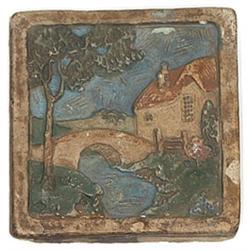Claycraft tile, finely detailed landscape