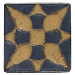 Grueby tile, 3sq.; with a Grueby tile
