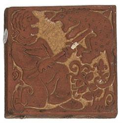 Batchelder tile hunting scene