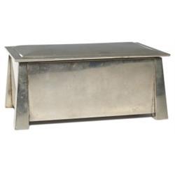 Arts & Crafts box, nickel silver