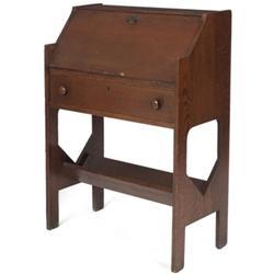 Arts & Crafts desk, fall front form