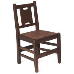 Gustav Stickley side chair, H-back