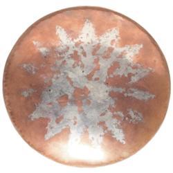 Linossier plate, hand-hammered copper