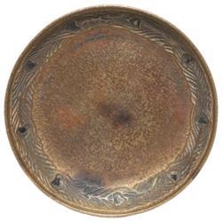 Tiffany Studios tray, round form