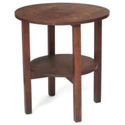 Gustav Stickley tea table circular top