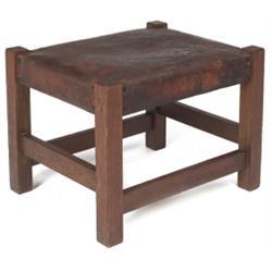 Gustav Stickley footstool, #300