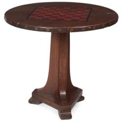 Arts & Crafts chess table, unusual form