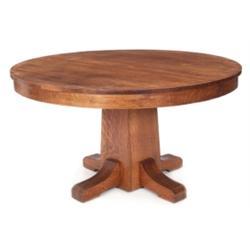 L & JG Stickley dining table, #717
