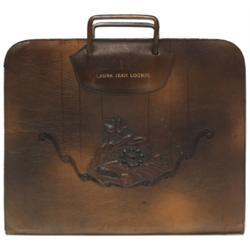 Arts & Crafts portfolio, leather