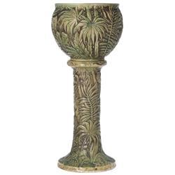 Weller Marvo pedestal and jardiniere