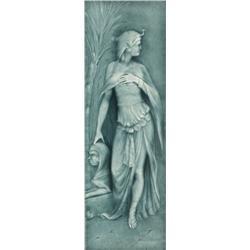 A.E.T. tile, Cleopatra green high glaze