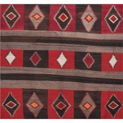 Navajo rug, c.1930, diamond pattern