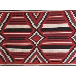 Navajo rug, c. 1930, linear design